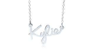 Up to 93% Off Personalized Script Name Pendant at MonogramHub, plus 6.0% Cash Back from Ebates.