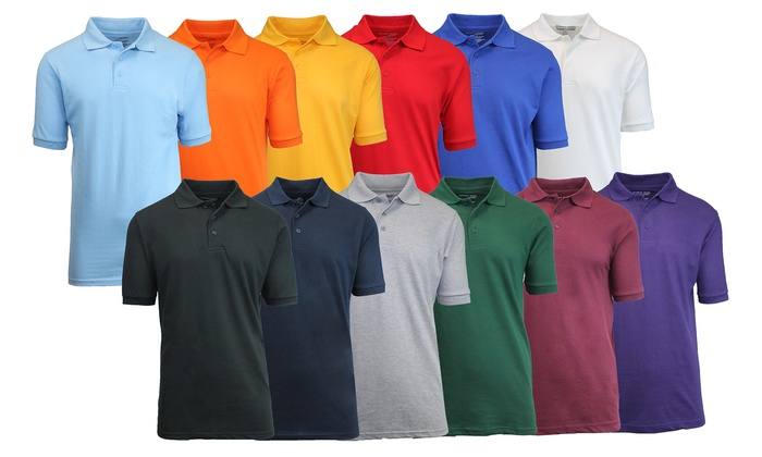 Buy 1 Get 2 Free: Short Sleeve Pique Polos