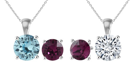 From $19 for a Birthstone Pendant Necklace and Earrings Set with Crystals from Swarovski® (Don't Pay up to $113.99)