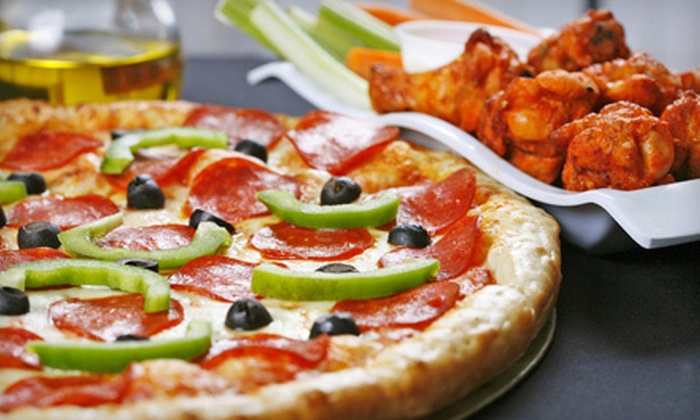 Checkers Family Restaurant and Pizzeria - Tipperary Hill: Pizza-and-Wings Party Package or $15 for $30 Worth of Pizzeria Fare at Checkers Family Restaurant and Pizzeria