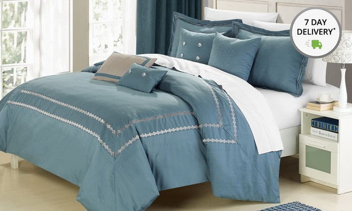 7-Piece Mandalay 200-Thread-Count Comforter Sets: 7-Piece Mandalay 200-Thread-Count Comforter Set. Multiple Colors Available. Free Shipping and Returns.