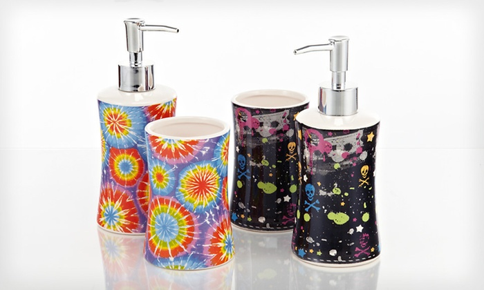 Two-Piece Ceramic Bath Sets: $11 for a Royal Club Two-Piece Ceramic Bath Set ($36.99 List Price). Eight Designs Available. Free Returns.