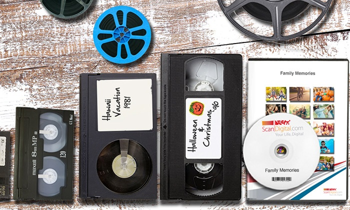 ScanDigital: Video Digitalization Services from ScanDigital (Up to 80% Off). Three Options Available.