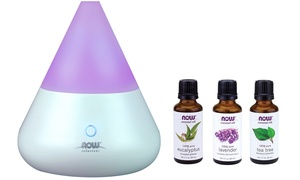 Now Solutions Ultrasonic Oil Diffuser And 3-pack Of Essential Oils
