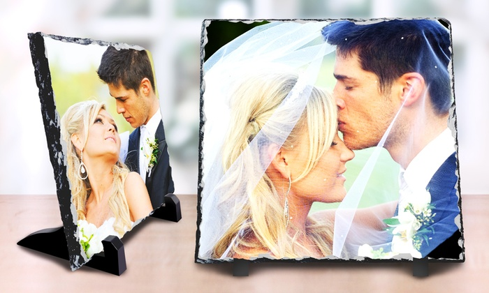 Printerpix: One or Three Custom Slate Photo Prints with Display Easel from PrinterPix (Up to 86% Off). Three Options Available.