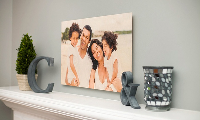 customized wood photo print photobarn groupon