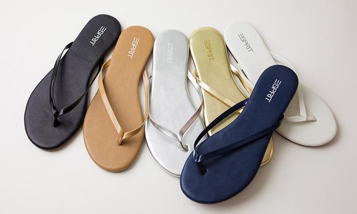 esprit party thong sandals groupon goods. Black Bedroom Furniture Sets. Home Design Ideas