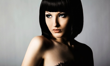 Haircut with Color and Hydrating Mask or Brazilian Keratin Treatment at MK Styling (Up to 68% Off)