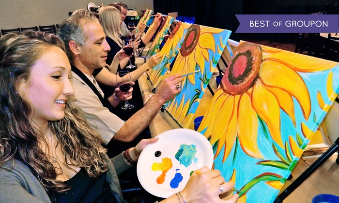 Painting & Vino - Multiple Locations: One or Two 3-Hour Social Painting Classes at Painting & Vino (Up to 52% Off)