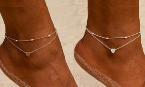 Bracelet 2 chaînes pour cheville