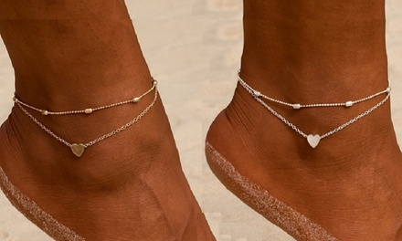 1 o 2 cavigliere da donna disponibili in 2 colori