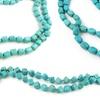 Layered Genuine Turquoise Beaded Necklace