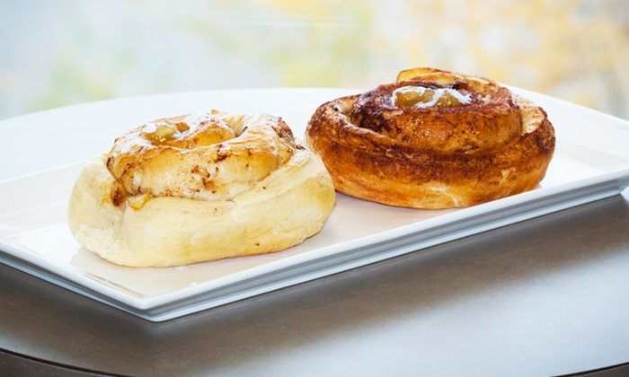SweetBox Delivery - Dr. Bean Cafe: $10 for Six Apple or Regular Cinnamon Rolls at SweetBox Delivery ($15 Value)