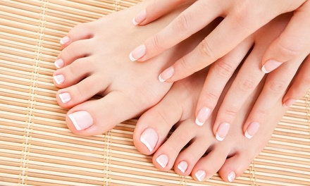 $22 for a Deluxe Spa Mani-Pedi at Mystique Salon & Spa ($45 Value)