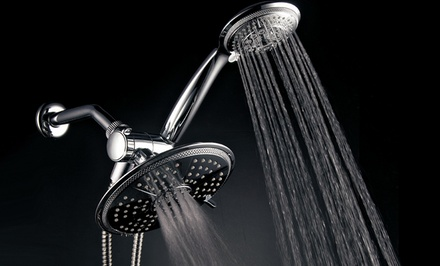 "HotelSpa 7"" Rainfall/Handheld 3-Way Shower Head"
