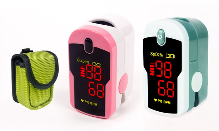 ChoiceMed Fingertip Pulse Oximeter with Lanyard and Protective Case