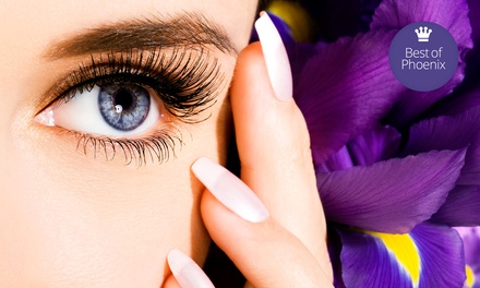 Partial Set of Eyelash Extensions or Full Set with Optional Touchup Sessions at The Brow Lady USA (Up to 78% Off)