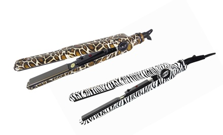 ISO Beauty Turbo Silk Flat Iron. Multiple Animal Print Designs Available.