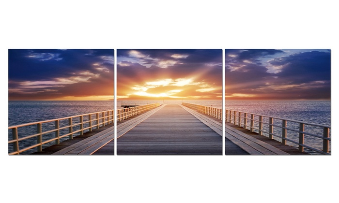 Frameless Triptych Wall Art: Frameless Triptych Wall Art. Multiple Pieces Available. Free Shipping and Returns.