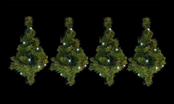 buy popular 96a20 43ed4 Mini Solar-Powered LED Christmas Trees - Four ($25) or Eight ($45) (Don't  Pay up to $159.80)