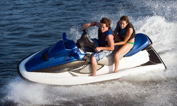 Paradise Power Sports - North Causeway: Four-Hour Rental for One or Two Jet-Skis at Paradise Power Sports (Up to 65% Off)