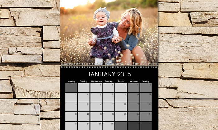 "Photo Deals: One or Two 11""x8.5"" Custom Photo Calendars from Photo Deals (Up to 72% Off)"