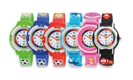 Hasta 3 relojes infantiles de silicona Qbos, disponibles en 4 modelos y varios colores