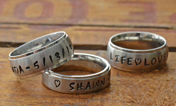 Stamp The Moment: $17 for a Personalized Hand-Stamped Name Ring from Stamp the Moment ($34.99 List Price). Free Shipping.