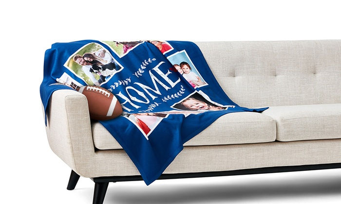 ... Collage.com: Custom Fleece Photo Blanket from Collage.com (75% Off ...