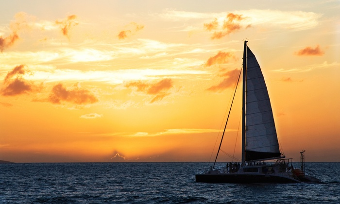 All Points of Sail Sailing School - Seabrook: Three-Hour Weekend Sunset Sail for Two or Four from All Points of Sail Sailing School (50% Off)