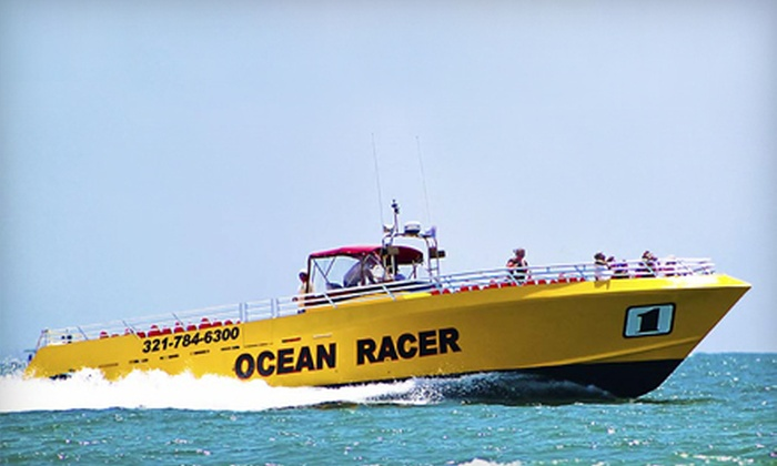 Canaveral Ocean Racer, LLC - Cocoa Beach-Cape Canaveral: 90-Minute Speedboat Ride with Dolphin Watching for Two or One from Canaveral Ocean Racer, LLC (Up to Half Off)