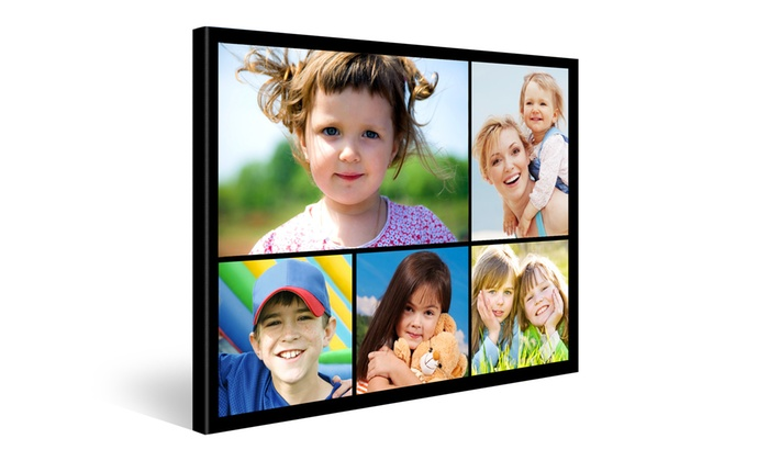 one two or four gallery wrapped canvas collages groupon