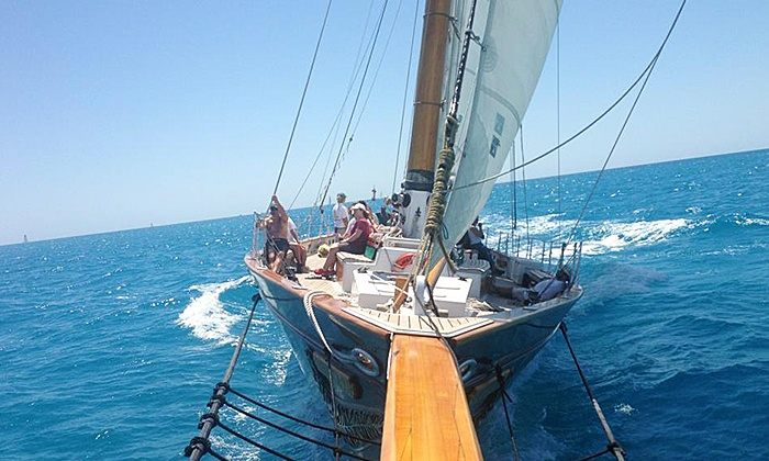 Classic Harbor Line - Classic Harbor Line: Day Sail with Wine and Beer or Champagne Sunset Sail for Two or Four from Classic Harbor Line. Four Options Available.