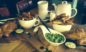 The Old Canteen: Fish and Chips With a Drink For Two (£9.95) or Four (£19.90) at The Old Canteen (Up to 63% Off)