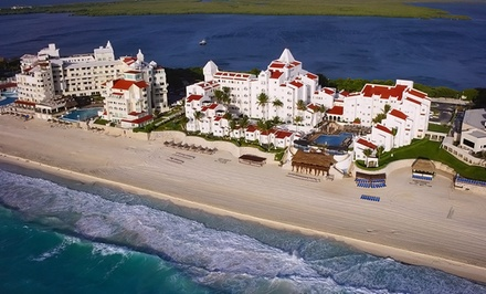 groupon daily deal - 3-, 4-, or 5-Night All-Inclusive Stay for Two Adults at GR Caribe By Solaris in Cancún, Mexico. Includes Taxes & Fees.