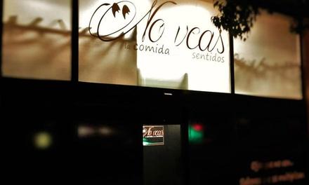 Menú degustación a oscuras para 2, 4 o 6 personas con tapas, postre y bebida desde 64,95 € en No Veas