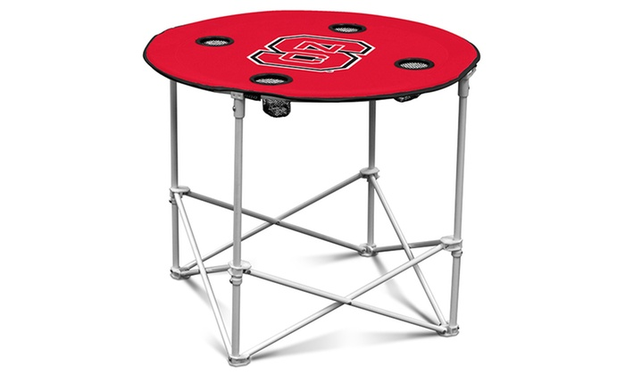 Ncaa folding round table groupon goods for 12 in 1 game table groupon