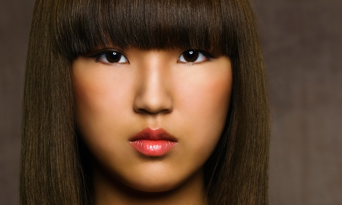 KC Salon - Multiple Locations: Yuko Japanese Hair-Straightening Treatment with Optional Haircut at KC Salon (Up to 59% Off)