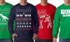 Men's Long-Sleeve Holiday Tees: Men's Long-Sleeve Holiday Tees