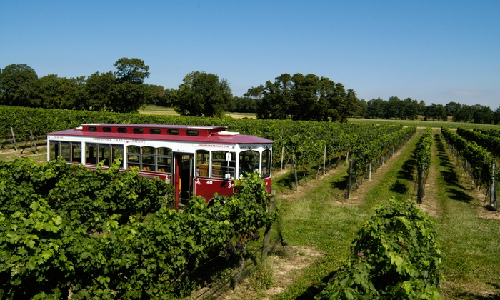 North Fork Trolley Company - Long Island: $99 for Three-Winery Tour for Two from North Fork Trolley Company ($198 Value)