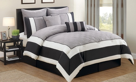 Duck River Textile Spain Hotel Eight-Piece Quilted Comforter Sets. Multiple Options Available. Free Returns.