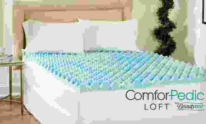 "4"" Gel Memory Foam Mattress Topper: ComforPedic Loft by Beautyrest 4"" Gel Memory Foam Mattress Topper (Up to 76% Off). Five Sizes Available. Free Shipping."