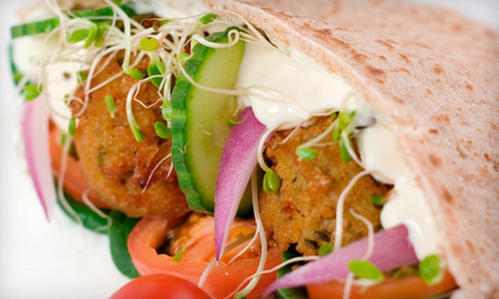 Falafel Corner - Harvard Square: Three, Six, or Nine Middle Eastern Pita Roll-Ups at Falafel Corner (Up to 54% Off)