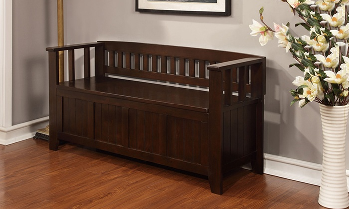 N Foyer Bench : Entryway storage bench groupon goods
