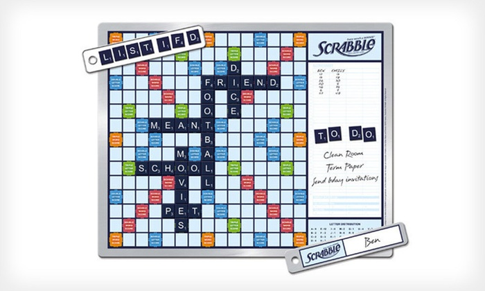 Scrabble Game and Message Board: $24.49 for a Magnetic Scrabble Game and Message Board ($34.99 List Price). Free Shipping.
