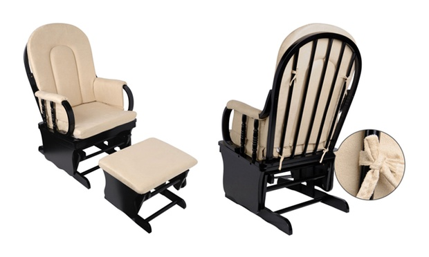 From $199 for a Wooden Nursery Rocking Chair with Ottoman in a Choice ...