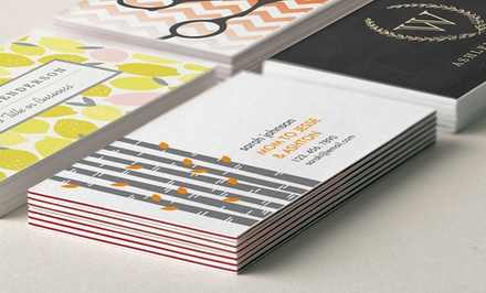 100 or 200 Standard or Ultra-Thick Personalized Business Cards from Zazzle (Up to 59% Off)