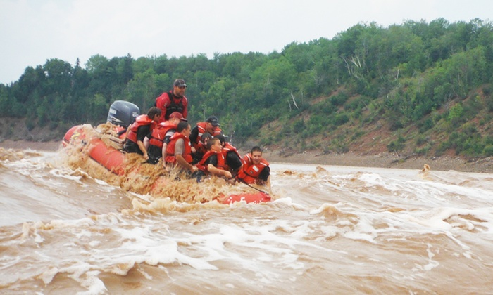 Fundy Tidal Bore Adventures - South Maitland: C$79.95 for a Two-Hour River Rafting Trip for Two at Fundy Tidal Bore Adventures (C$138 Value). Ten Options.