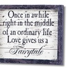 Fairytale Love Story Wooden Plaque
