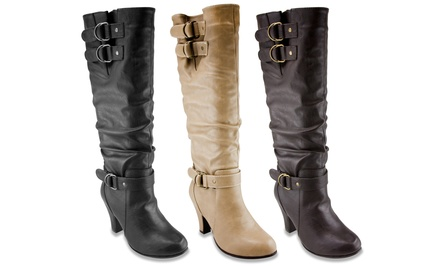Rampage Women's Slouch Heeled Boot